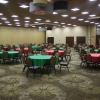 2/3 of our hall. This is 30 round tables and total seating of 240
