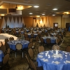 45 Round Tables, seating for 450 with a 20'x24' stage